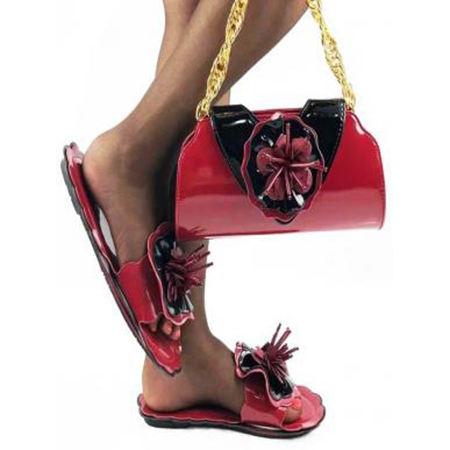 Ladies Shoes Combo - Wholesale women Shoes ladies fancy Slides sandals with purse set