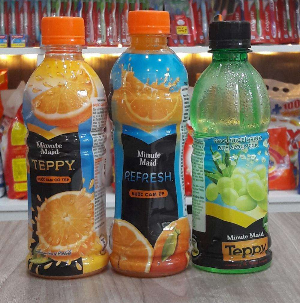 Minute Maid Pulpy 3 Flavors Fruit Juice with Pulp, Teppy Fresh Orange Juice