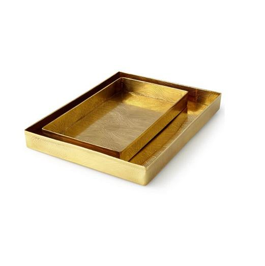 Luxury Home Serving Trays Set 2 with Handles