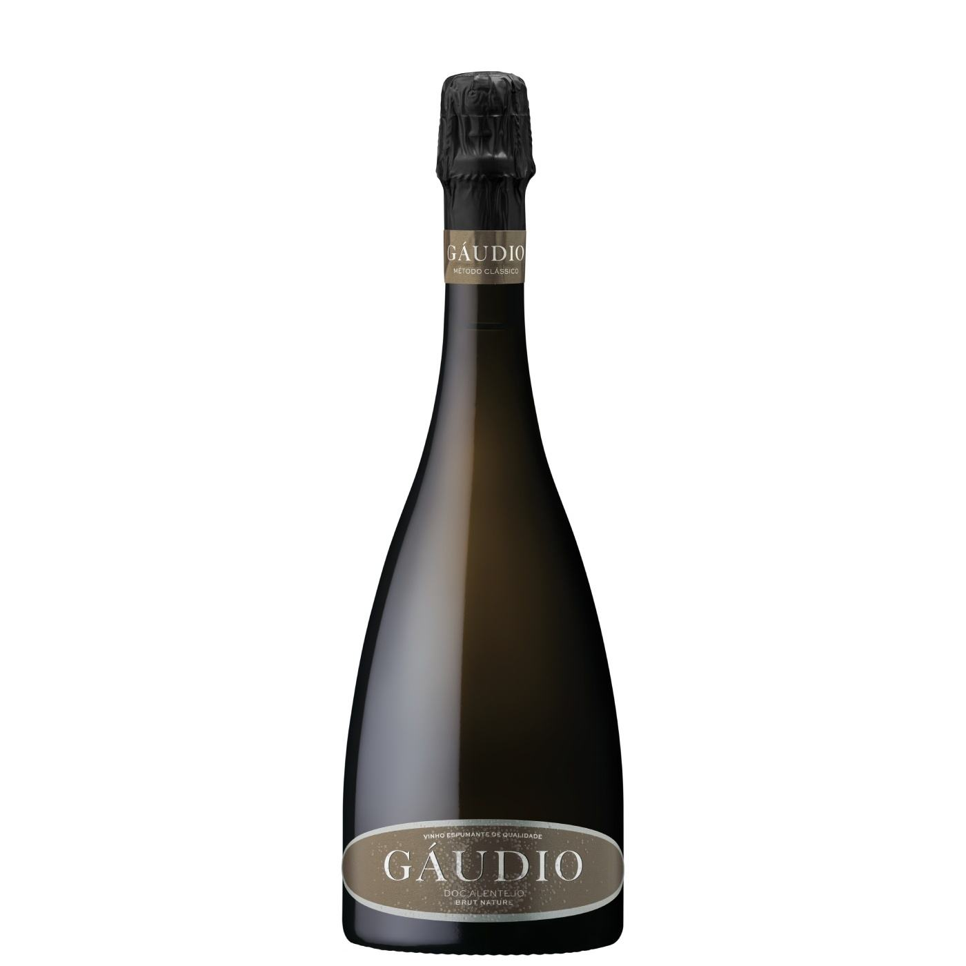 Gaudio Brut Nature White, dry sparkling wine from Portugal of great elegance with fine and persistent bubble, DOC Alentejo