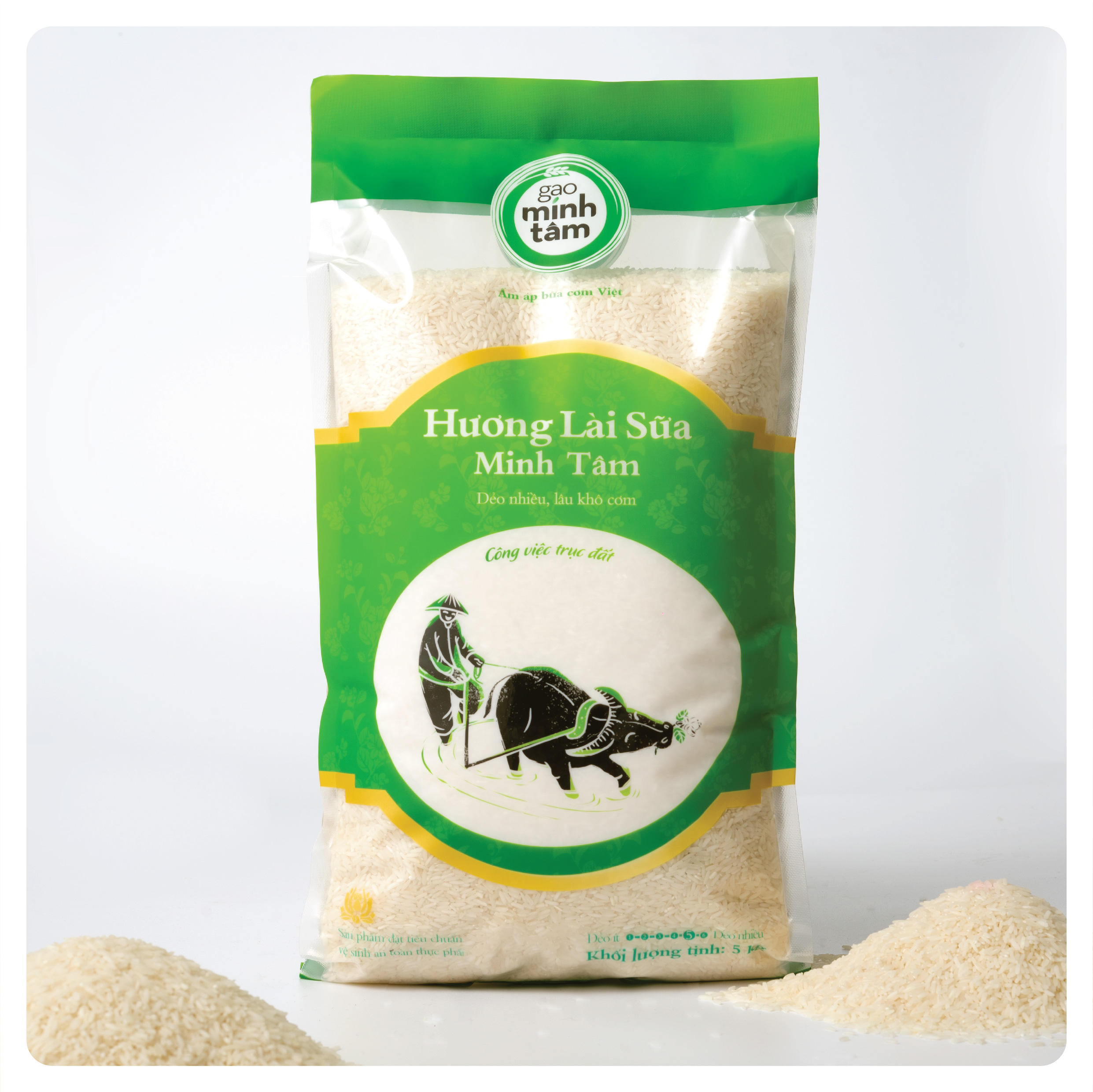 Tasty Aromatic Kind Sticky Flavor Huong Lai Medium Grain Rice With White Color From Vietnam