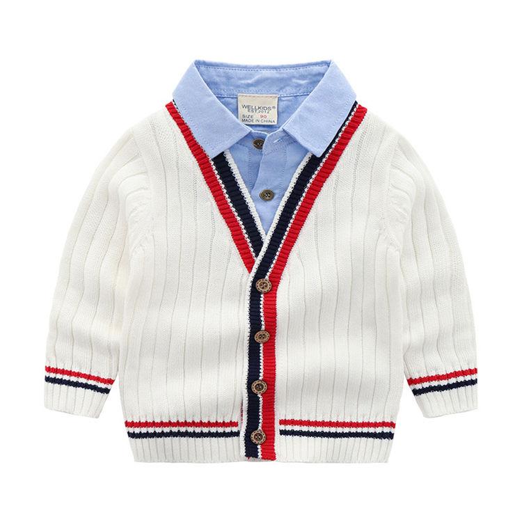 Высокое качество пользовательские с длинным рукавом для маленьких мальчиков кардиган Стильные Свитера мальчиков свитер дизайн