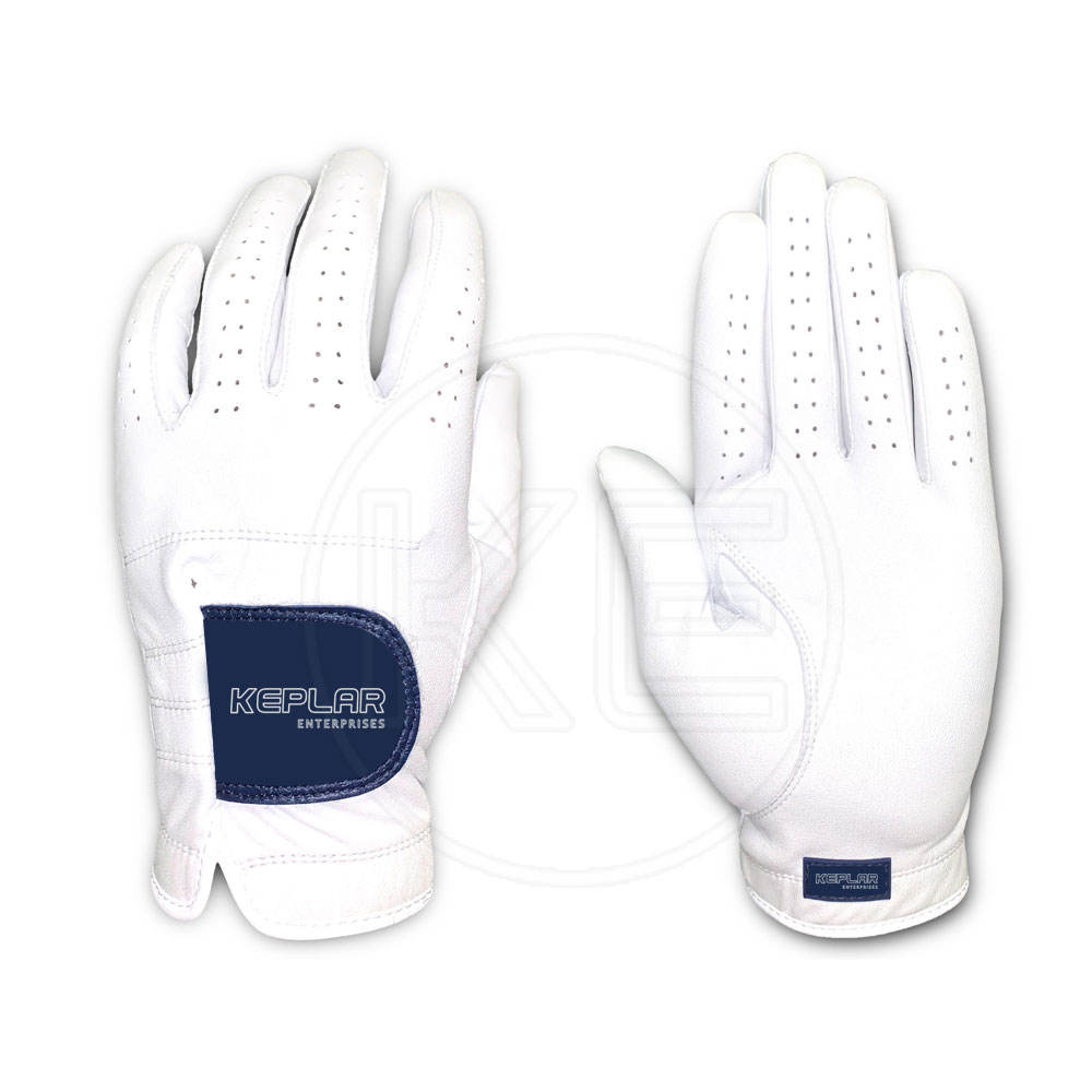 Full White Soft Genuine Cabretta Leather Golf Glove