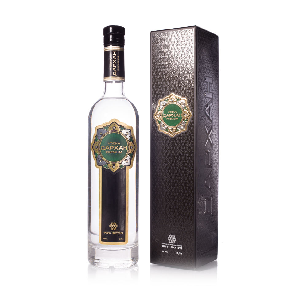 40% Strong Natural Ecological Raw Materials Unique Product Alcohol Premium Quality Darhan Vodka