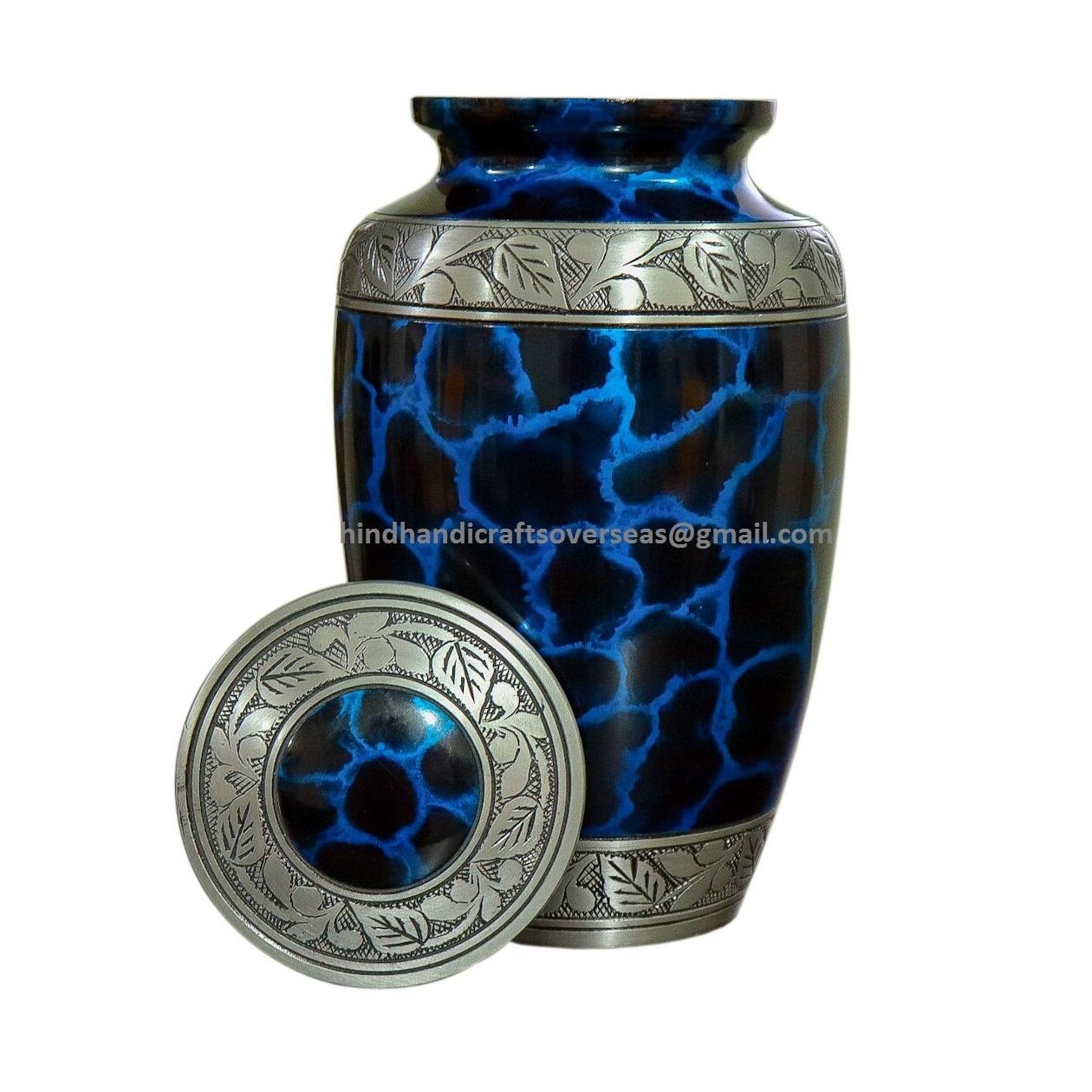 Blue cloud Adult Aluminium Human Cremation urns Funeral urns for human ashes hing quality cheap metal cremation urns