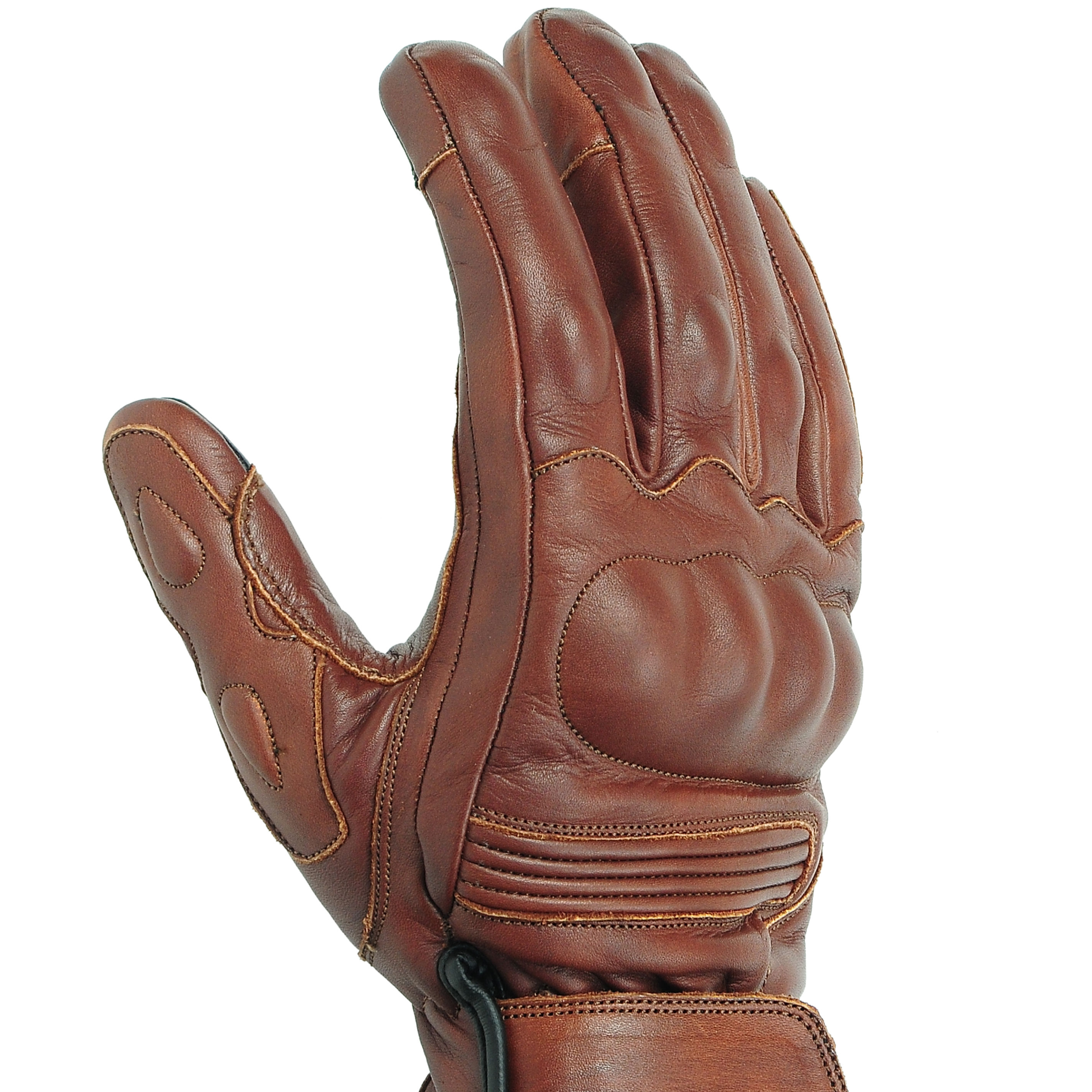 Touch Screen Genuine Leather Motorcycle / Motorbike / Motor Sports Men's Carbon Fiber Knuckle Protective Gloves