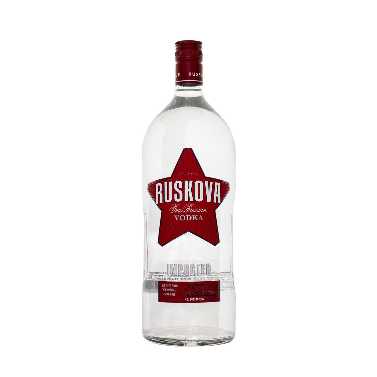 Traditional russian vodka RUSKOVA with pure taste, oem vodka