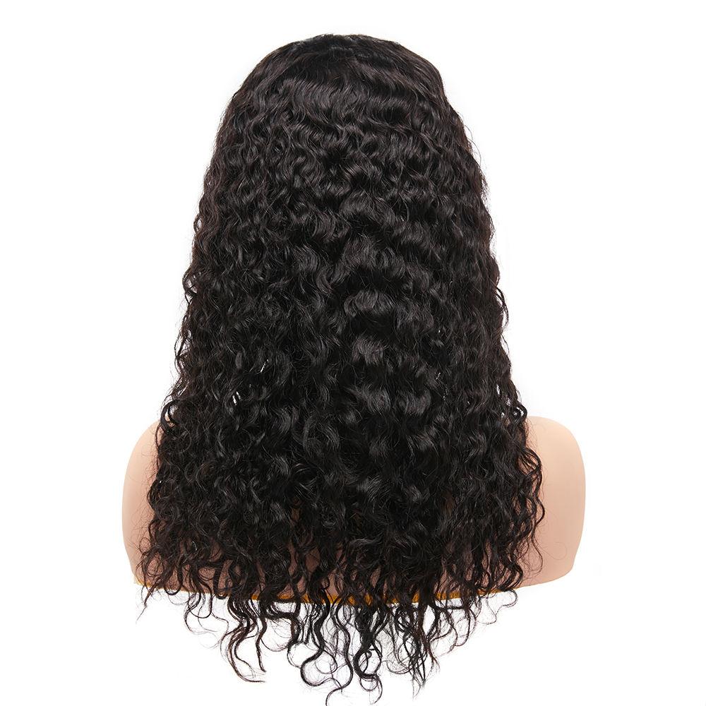 180% de densidad de Color Natural nudos blanqueados brasileño Remy Jerry Cierre de encaje rizado <span class=keywords><strong>peluca</strong></span>