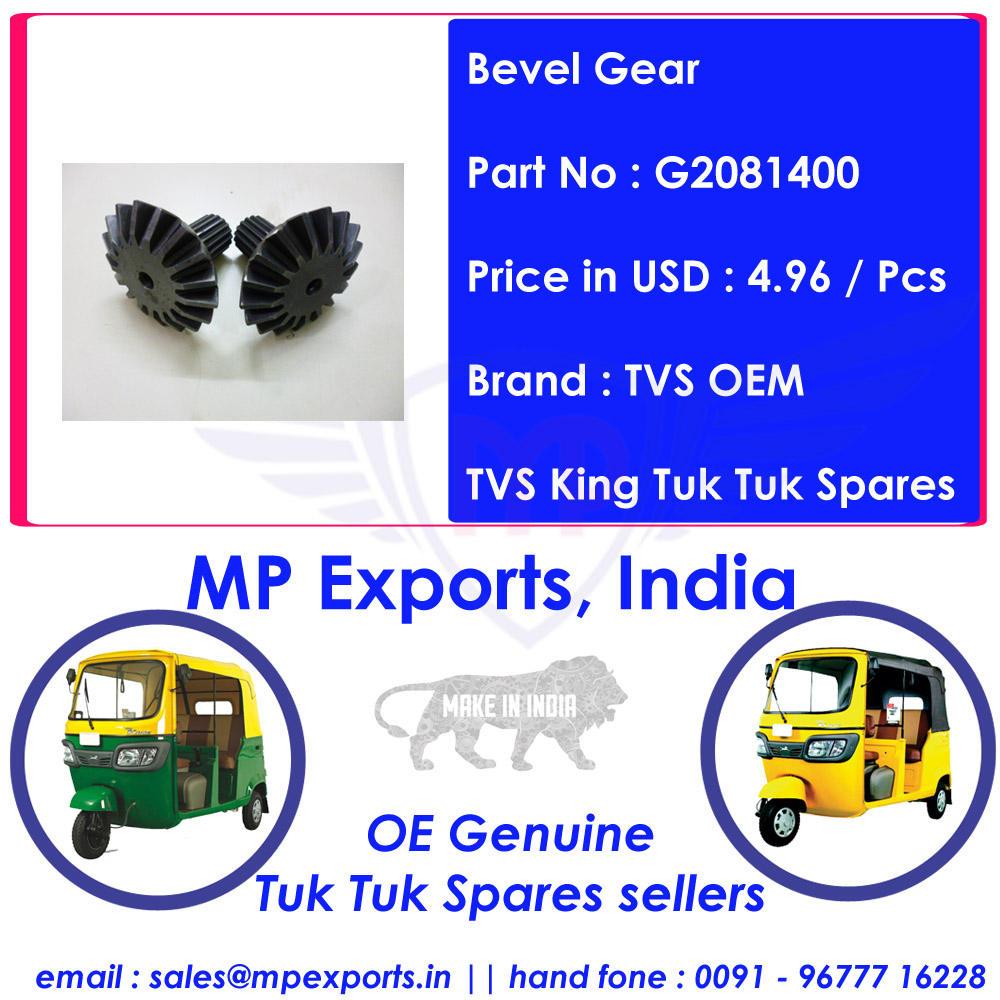 Exportadores Rey Tuk tuk Repuestos Engranaje Cónico
