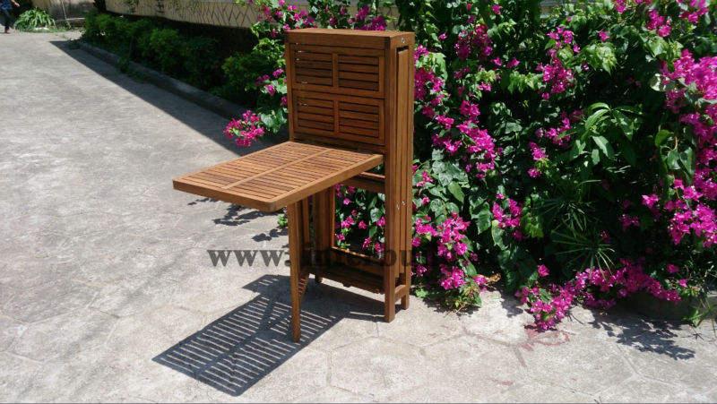 Nueva! listón pequeño color teca de madera maciza jardín exterior muebles