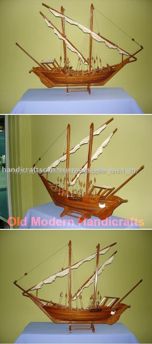 <span class=keywords><strong>dhow</strong></span> pequeños buques modelo modelo de barco de madera regalos set