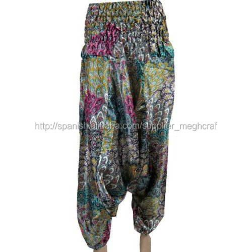2015 señoras de la moda pantalones harén-impresos harem holgado harén flor pantalones dama pantalones de los pantalones