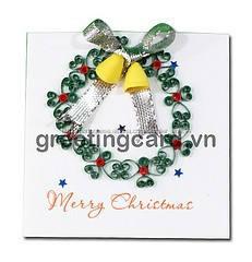 Christmast quilling da pintura da flor decorativa