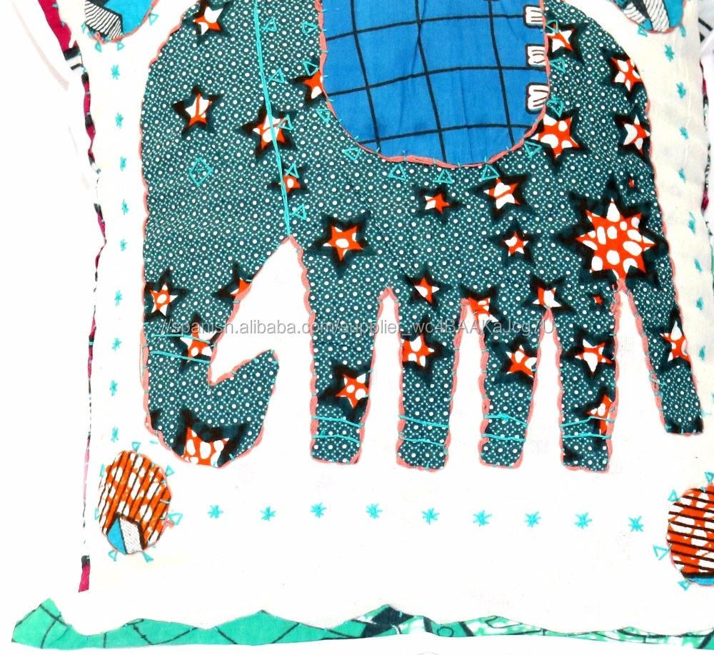 Acento India Sari Patch trabajo Hecho A Mano Dormitorio Decoración Toss Throw Pillow Cojín Funda