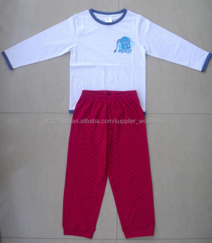High end качества дети с длинным пижамы установить, 100% хлопок девушки длинные пижамы установить.