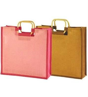 Túi đay ánh sáng màu hồng và tự nhiên có tay cầm tay bằng gỗ MLG quốc tế