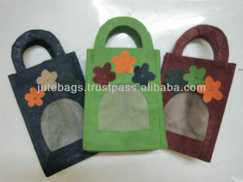 Đay túi với ba hoa trên đầu trang