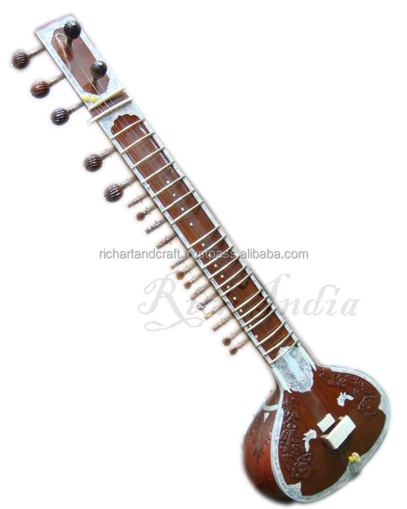 Sitar especial RAVI SHANKAR estilo com caixa de fibra indiano alta PRO qualidade de cordas índia instrumento Musical