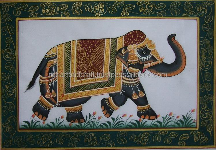 miniaturmalerei Royal Elephant seidentuch <span class=keywords><strong>Geschichte</strong></span> Folk india <span class=keywords><strong>geschichte</strong></span> tier kunst Wald china