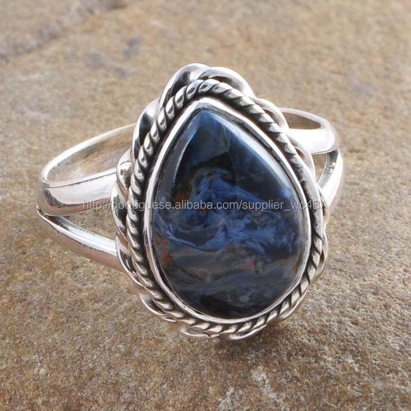 Fornecedor grossista de Pietersite 925 Sterling Silver Jewelry Handmade jóias anel de prata 925 jóias de prata exportador