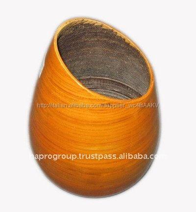 fatto a mano filato di <span class=keywords><strong>bambù</strong></span> <span class=keywords><strong>lacca</strong></span> <span class=keywords><strong>vaso</strong></span> di fiore made in vietnam