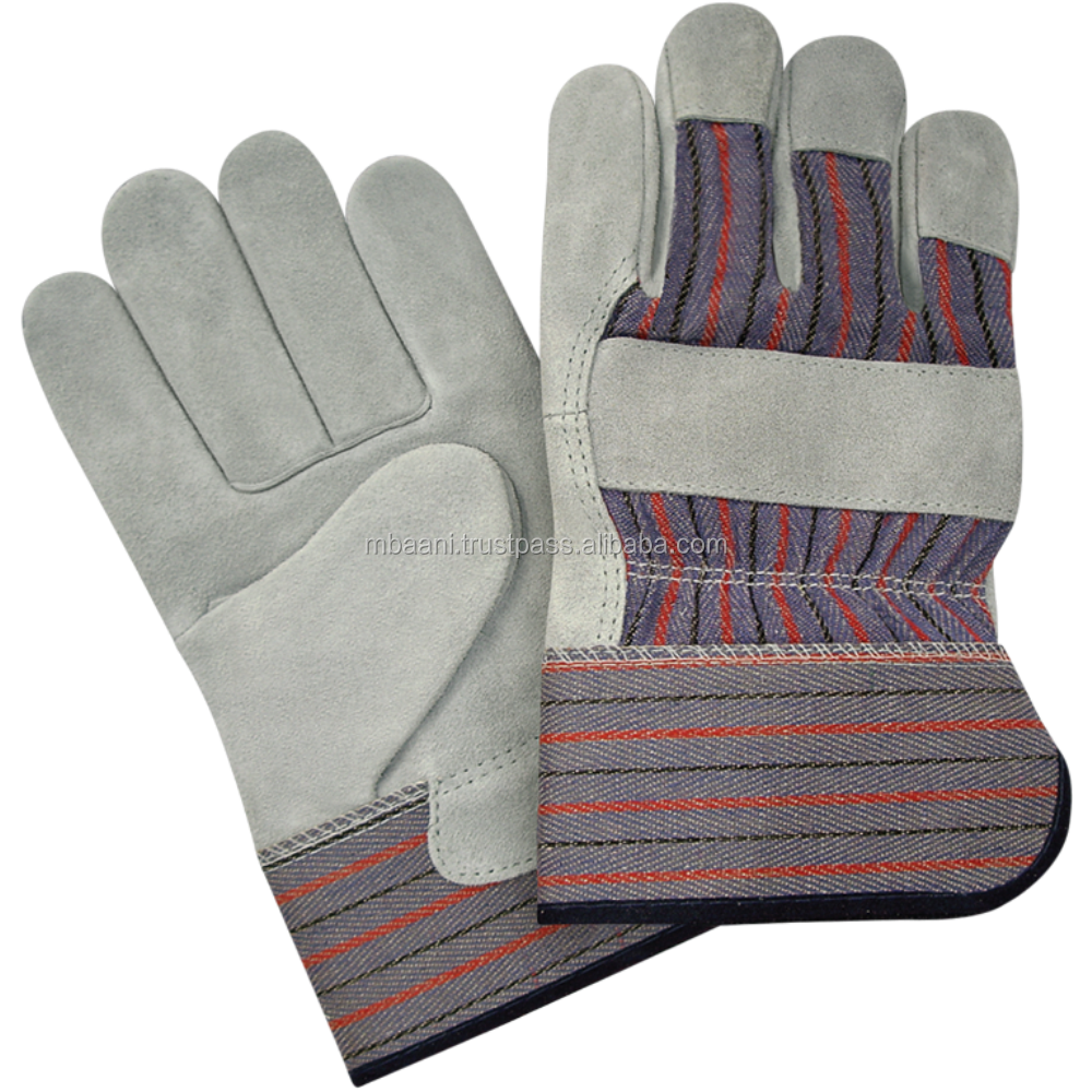 Standard Split Cowhide Leather Palm Work Gloves