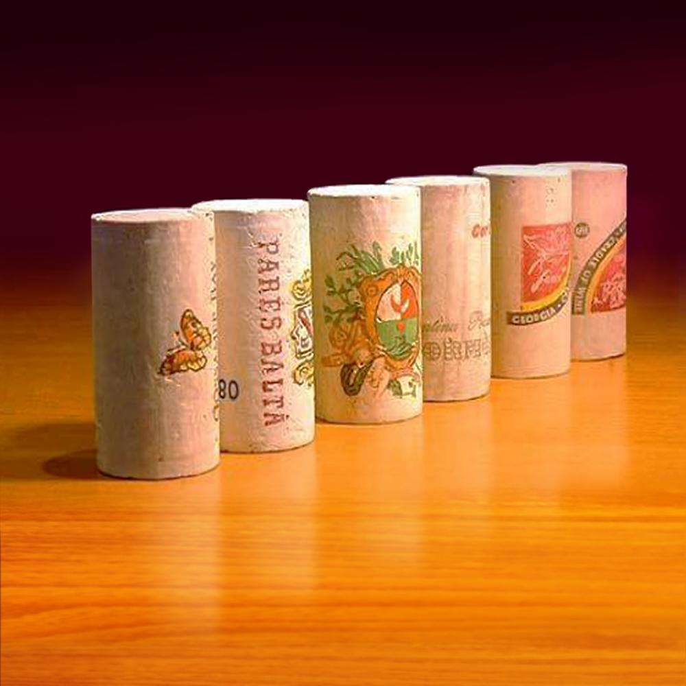 Multi-Colored High-Quality Natural Cork Stoppers for Wine