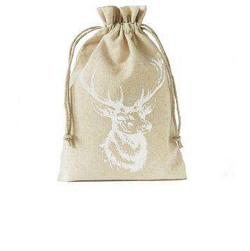 CHRISTMAS NICE AND CHEAP DESIGN BURLAP BAG FESTIVE AND PARTY DECORATIVE BURLAP BAG