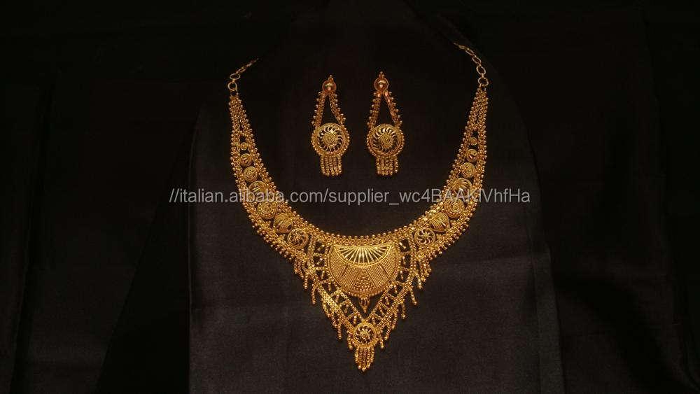 Set cordone per collana placcato in oro, esportatore di collana placcato oro