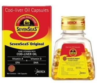 Семь морей чистый масло печени трески капсулы поддерживает здоровое сердце, поддерживает здоровую иммунную System-100ct (3 шт.)