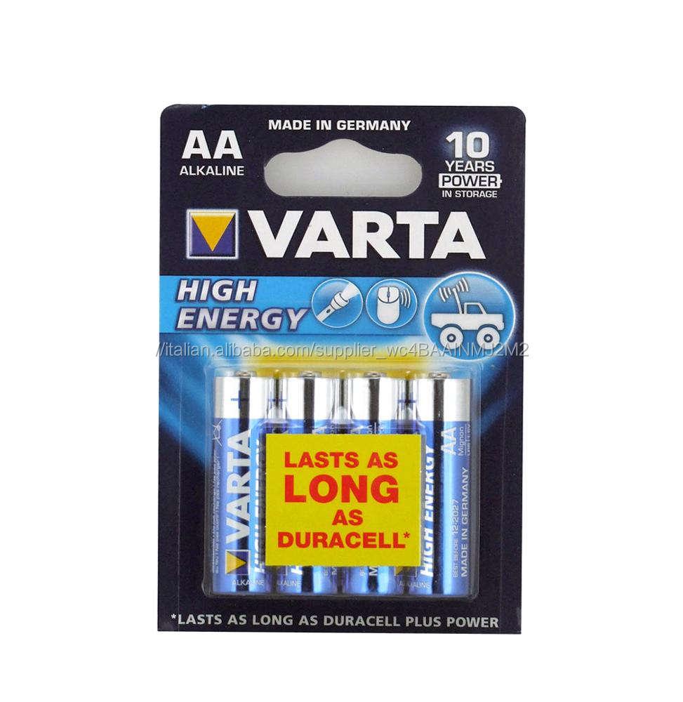 VARTA AD ALTA ENERGIA <span class=keywords><strong>AA</strong></span>/<span class=keywords><strong>LR6</strong></span> BATTERIA DI 4 O 24 PER OROLOGI DA PARETE di CONTROLLO REMOTO O RADIO