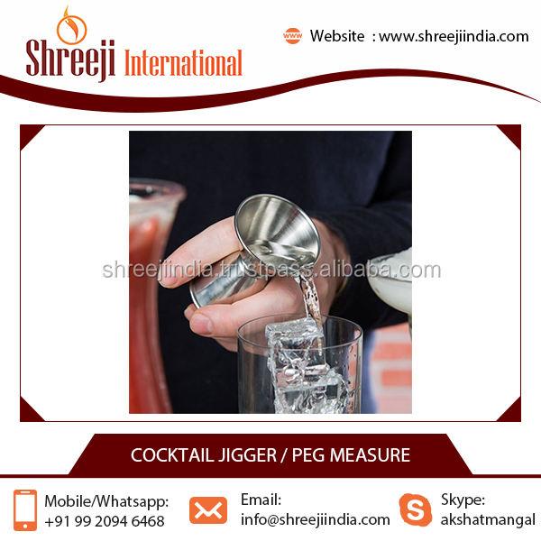 de la Marque Cocktail Personnalisé Jigger Haute Qualité Prix Bas En Acier Inoxydable Vin De Mesure Jigger Fabricant Inde
