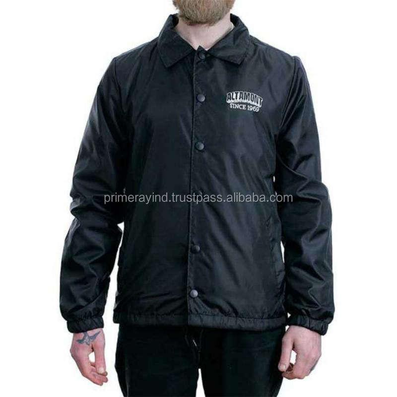 Áo khoác người đàn ông bán buôn chắn gió với logo của bạn hoạt động
