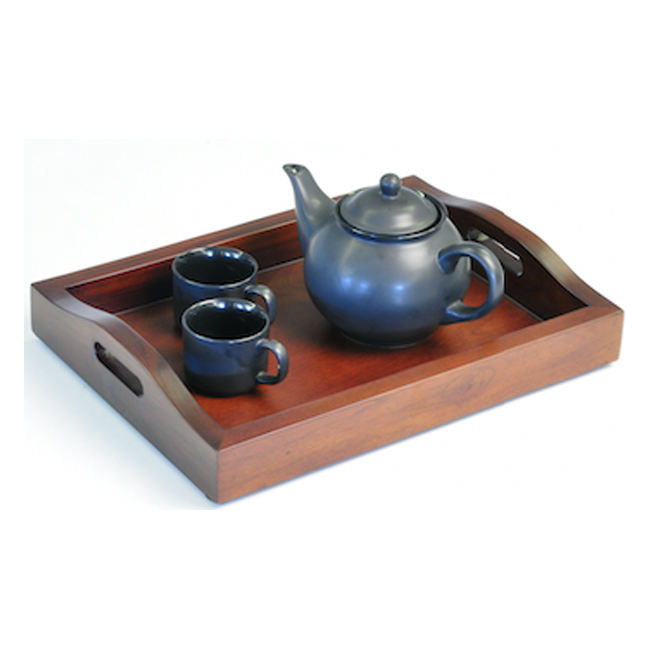 Solid Wood Tray for Serving Tea Pot & Saucer Exporter