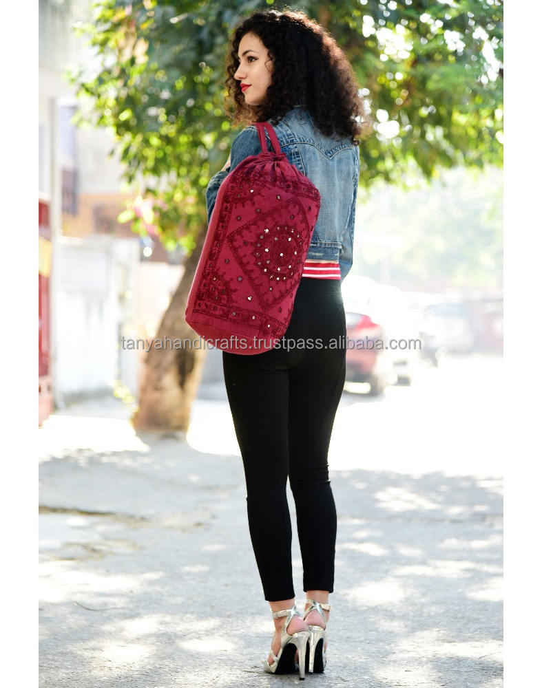 El uso diario bolso Gypsy paquete del bolso bordado hecho a mano espejo de trabajo Cross Body Bag