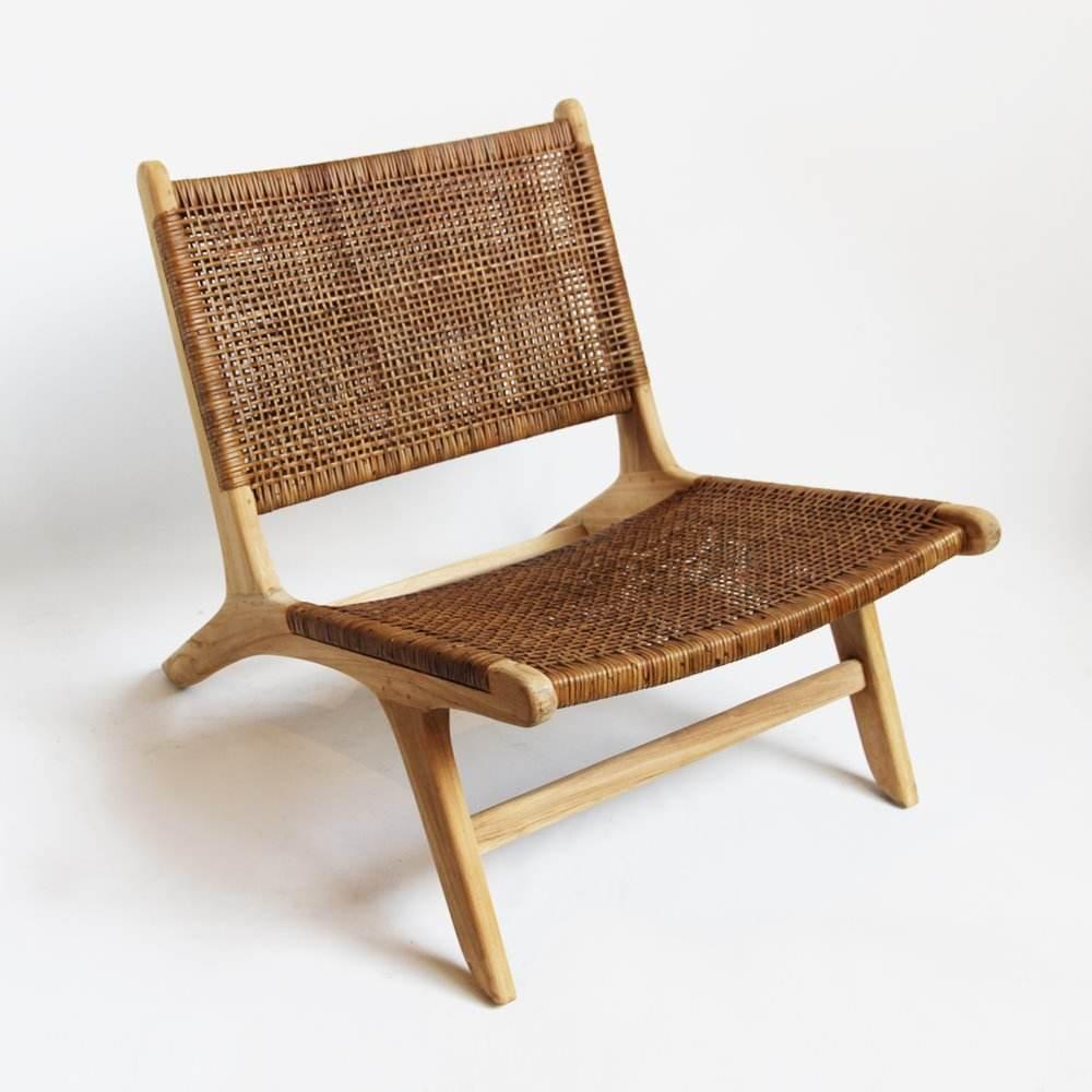 Rattan Wicker and Teak Outdoor Garden Chairs Wooden Relaxing Outdoor Garden Furniture