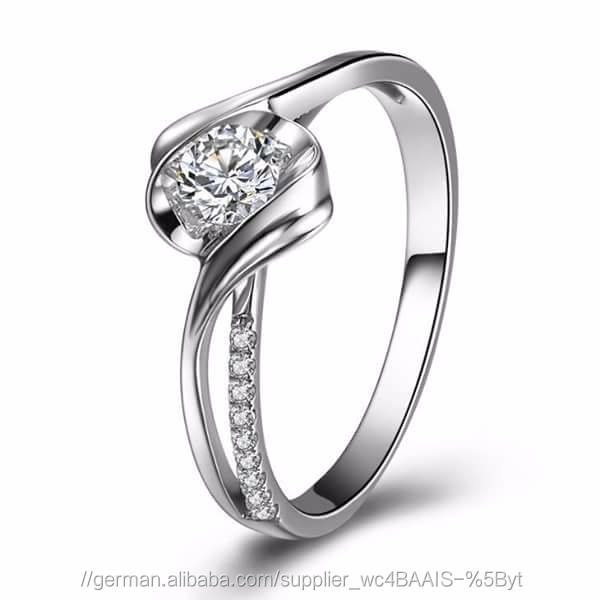 Certified 0.50 Tcw SI1 Clarity 100% Real Natural White Diamonds 18Kt White Gold Unique Wedding Ring at Worldwide free Shipping