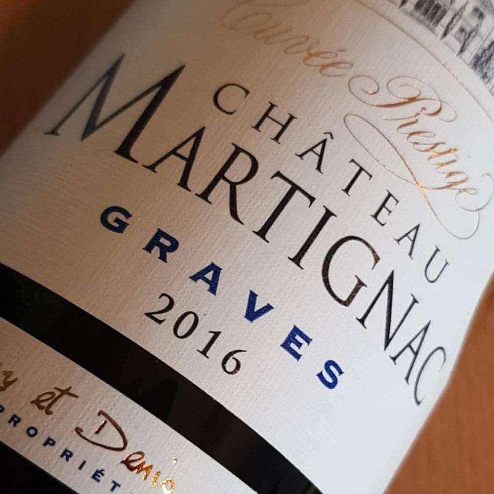 Red French Wine Chateau Martignac Graves AOC