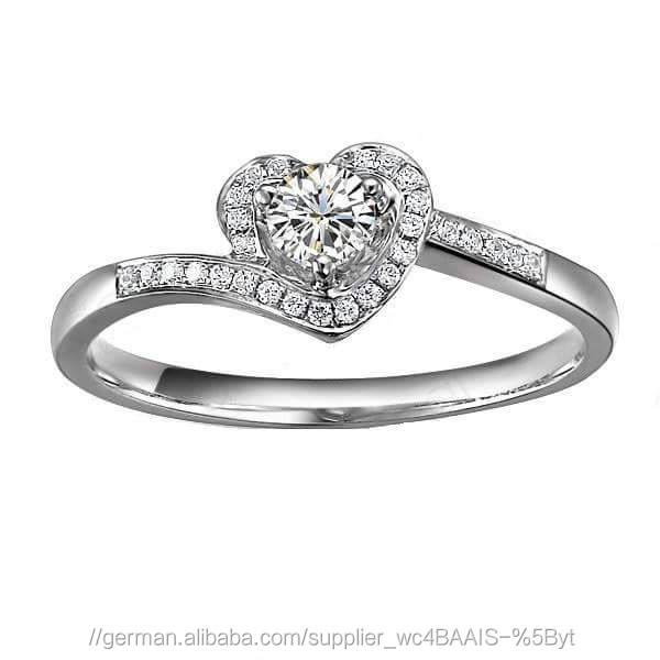 Certified 0.75 Tcw SI2 Clarity 100% Real Natural White Diamonds 18Kt White Gold Unique Wedding Ring at Worldwide free Shipping