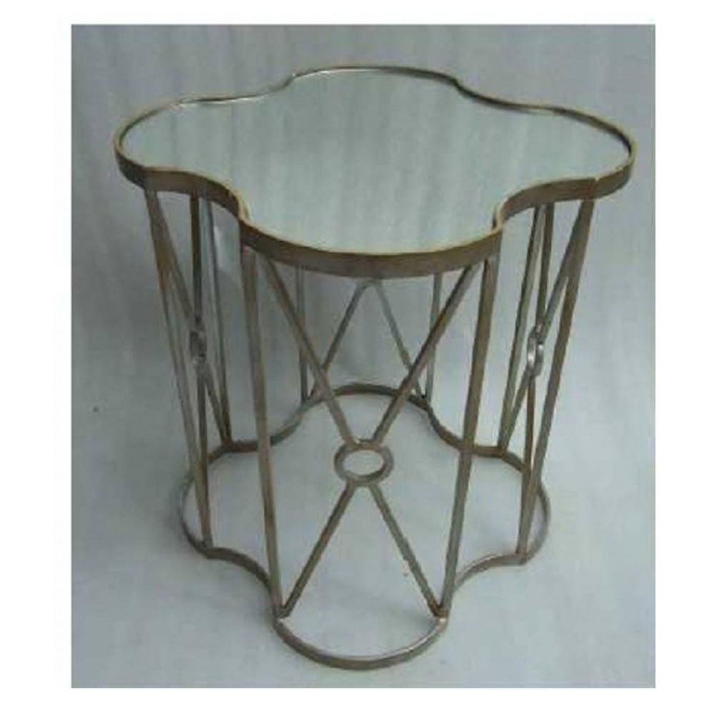 Occasional Accent Table in Antique Brass Finish