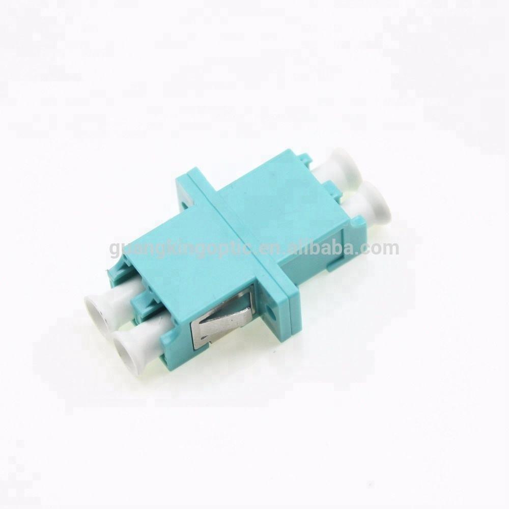 Buena calidad sin ventanas acoplador dúplex om3 LC adaptador de fibra óptica