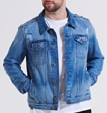 Küçültmek ed renk denim ceket