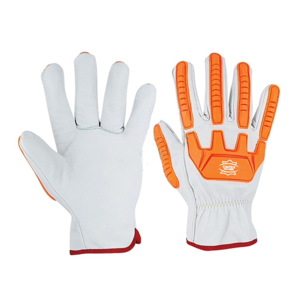 High Quality Leather TPR Impact Resistant Gloves Cut Resistant Gloves