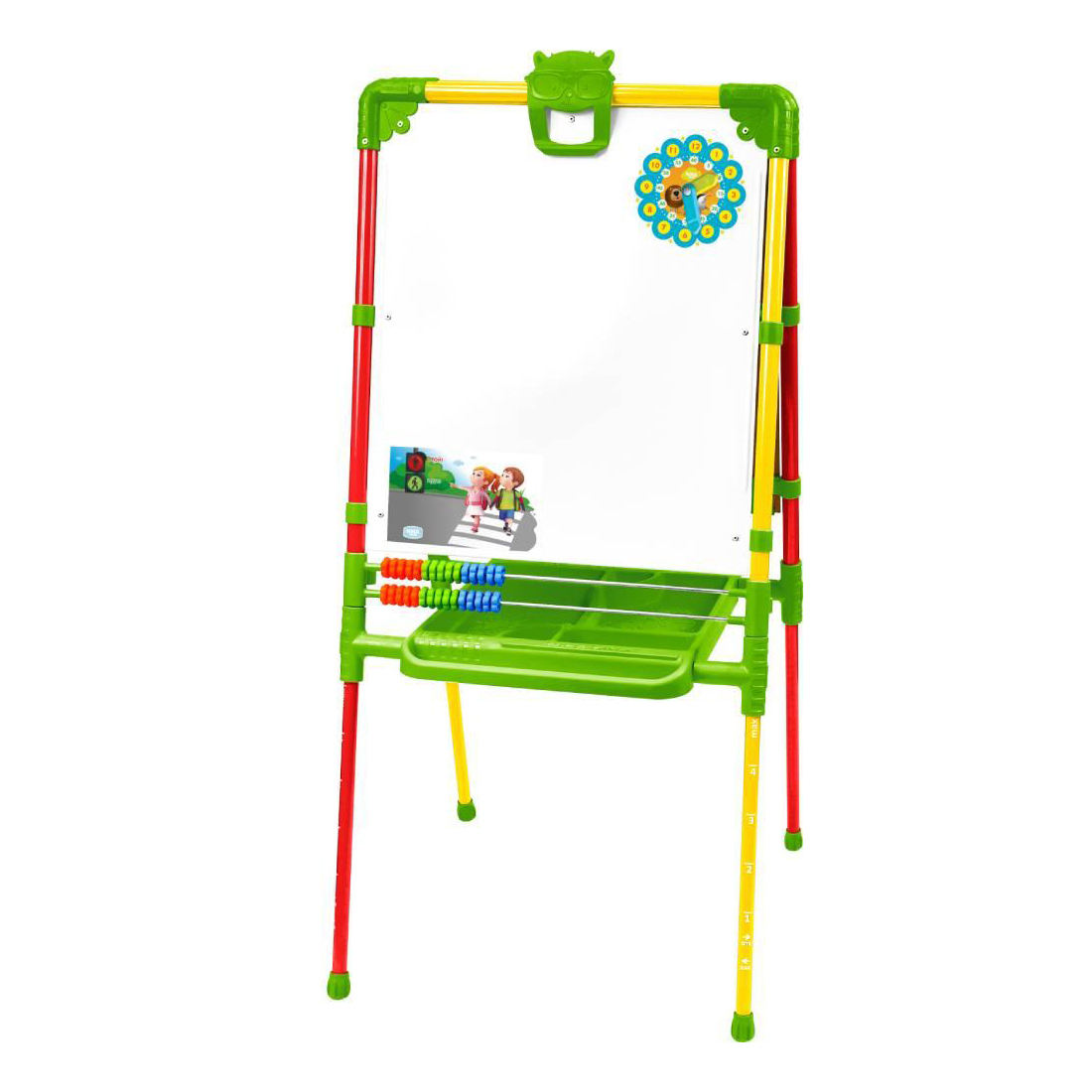 TOP Quality growing folding double-sided easel M2 for kids aged 1,5 years and older, chalkboard/magnetic whiteboard 2-in-1