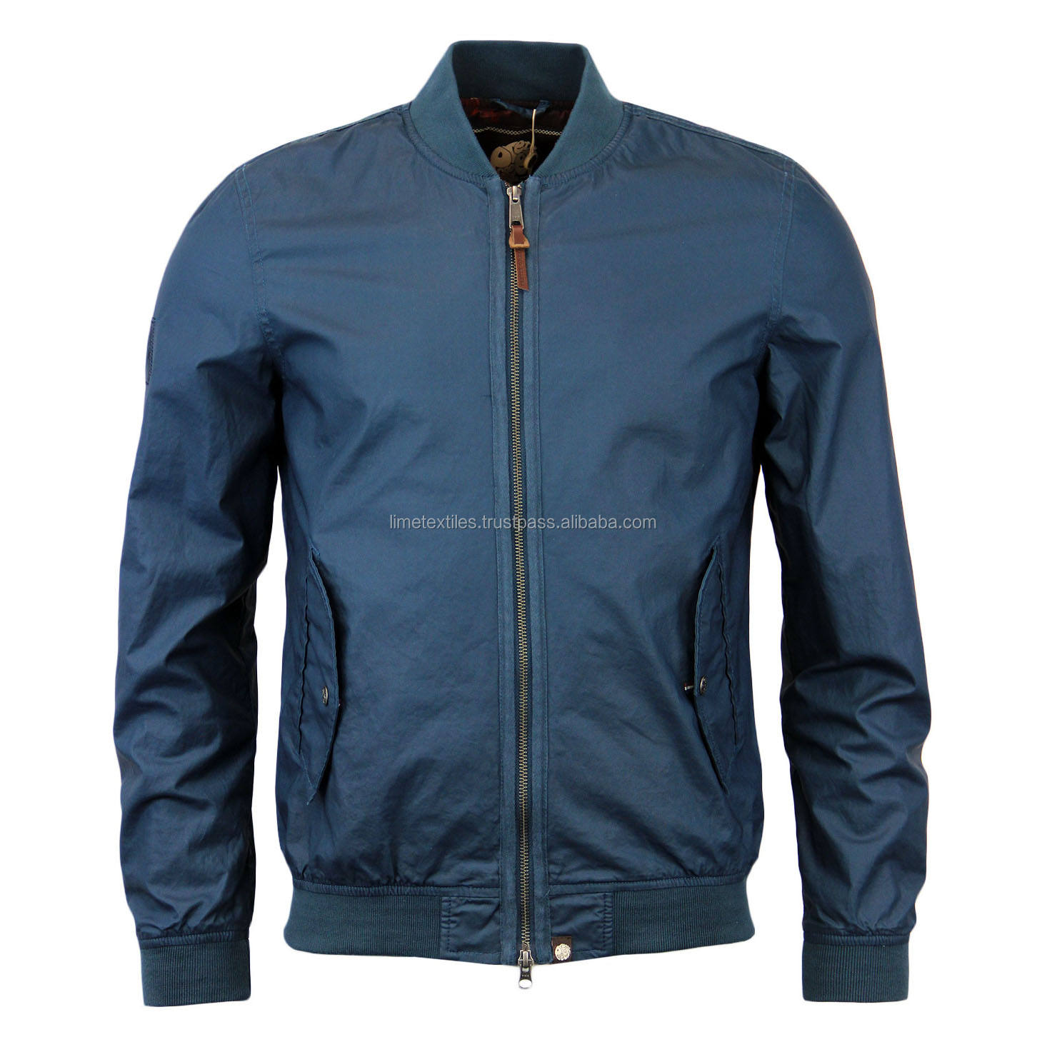 Bomber Jacket Wholesale Quilted Nylon Bomber Jacket For Men / High Quality Lightweight zipper Jacket Bomber
