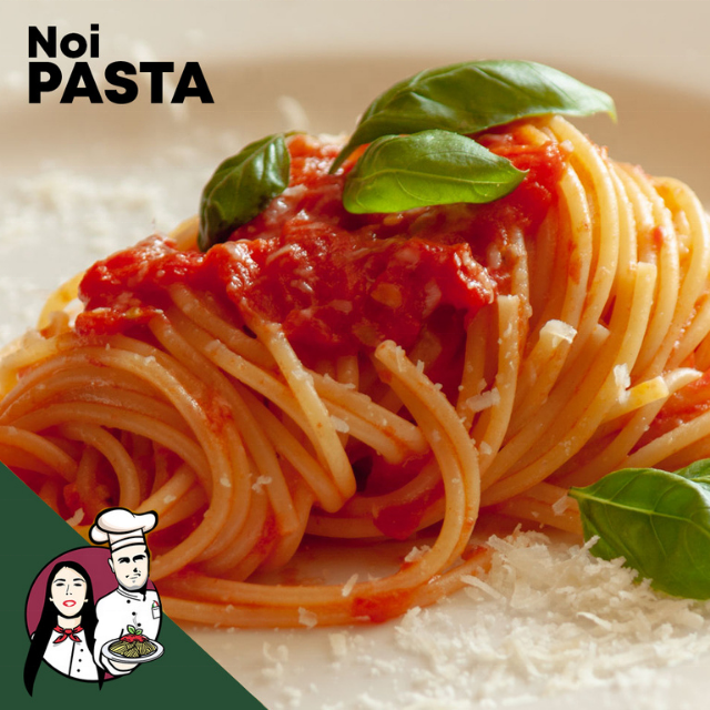 Noi Pasta il gusto spaghetti and tomato best italian quality ingredients with organic tomato sauce and long pasta