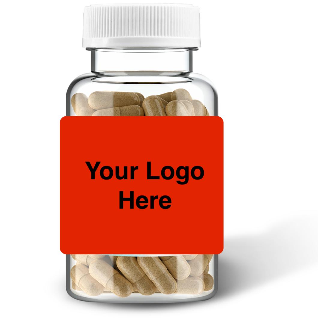 All Natural Vegan Organic Sea Moss Bladderwrack Pill White Label Capsule Vitamin - Made in USA
