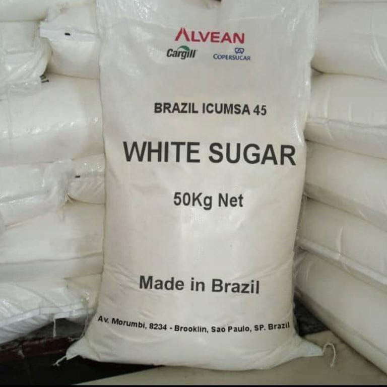 100% High Quality Brazilian Refined Crystal Icumsa Sugar ( 25kg-50kg bags )