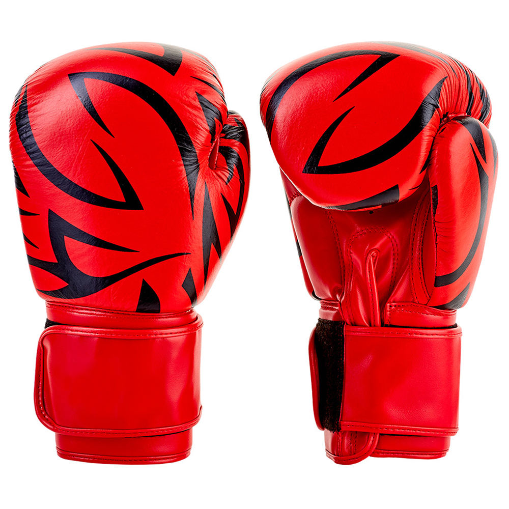 HIGH Quality PU Leather Adults Men/Women Boxing Gloves Equipment Custom Printed Boxing Gloves
