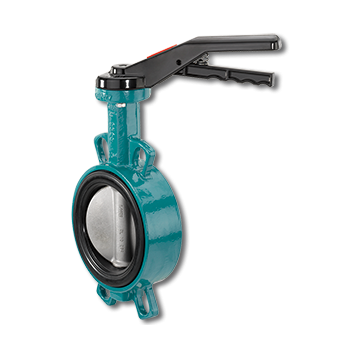 The soft seated butterfly valve is manually operated.It has a metal hand lever or gearbox depending on customer requirements